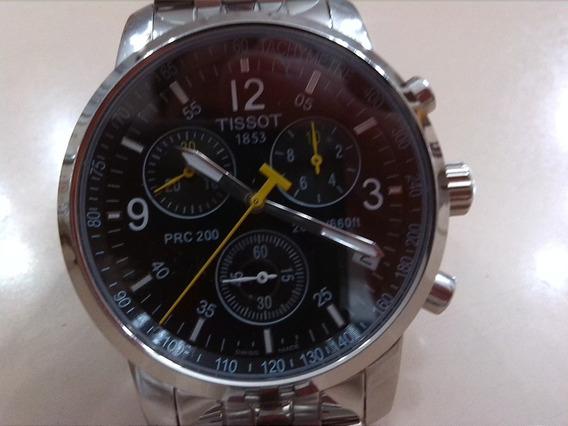 Relógio Tissot Masculino Com Ponteiros De Cor Amarelo.