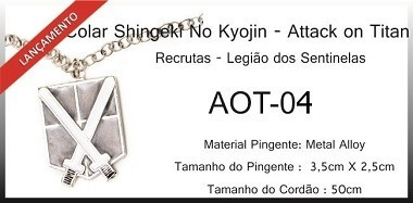Colar Recrutas - Legião Dos Sentinelas (attack On Titan)