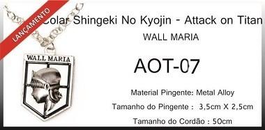 Colar Wall Maria (attack On Titan)