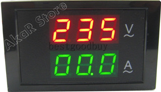 Voltímetro Amperímetro Led 110v 220v 100a Ac Painel Energia
