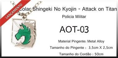 Colar Polícia Militar (attak On Titan)