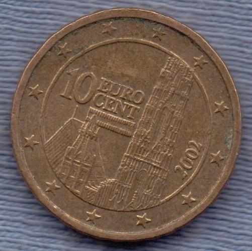 Austria 10 Cents Euro 2002 * Catedral De San Esteban *