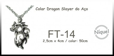 Colar Colar Dragon Slayer Do Aço (fairytail)