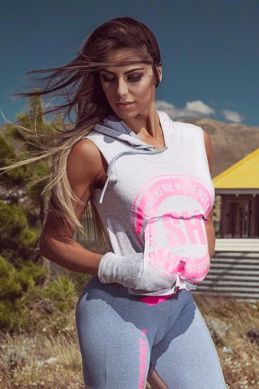 Blusa Cropped Regata Superhot Fitness Wear Super Promoção