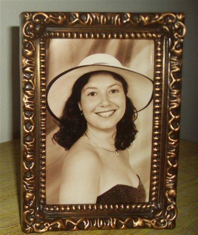 Porta-retrato Retrô Com Vidro 10 X 15 Cm