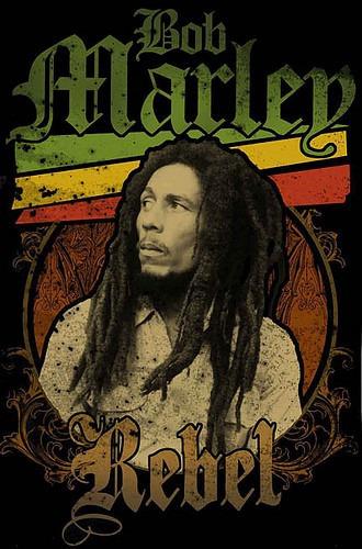 Camisa De Qualidade- Algodão- Reggae - Bob Marley Rebel