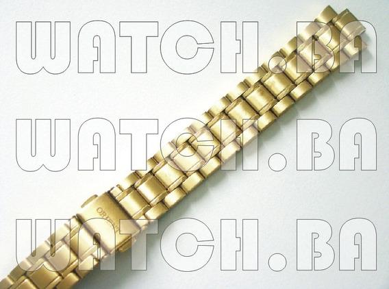 Pulseira Dourada Orient Fgss1077 - Nova, Original!