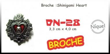 Colar Broche: Shinigami Heart (death Note)