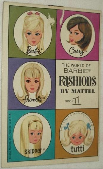 Barbie Anos60 Lote C/3 Catálogos Originais Importados Mattel