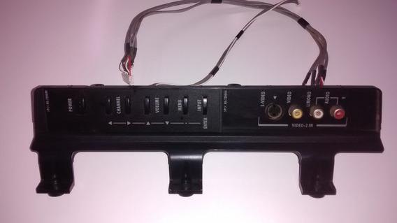 Placa Teclado Função Pe0329-4 E Av Lateral Pe03292 Toshiba