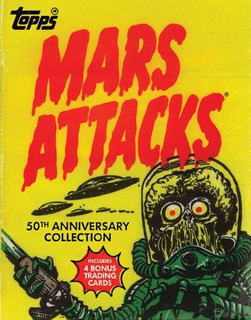 Libro Mars Attacks 50th Anniversary - C/4 Tarjetas P D *sk