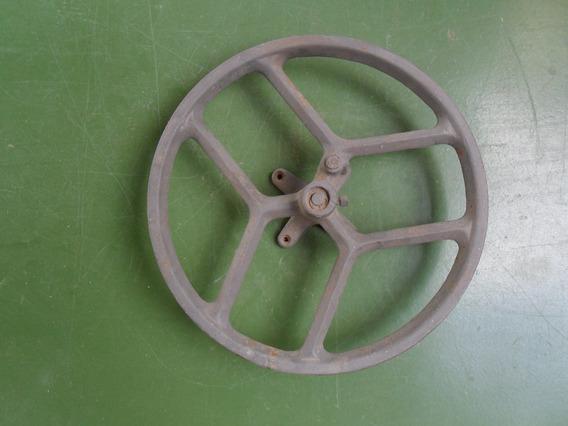 Roda Da Cia De Maquina De Costura Antiga