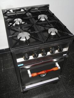 Cocina Industrial Familiar Tecnocalor 4 Hornallas Acero Inox
