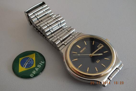 Relógio Seiko Quartz Masculino-déc 80- Azul