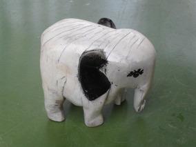 Vendo Escultura Em Madeira Antiga De Elefante