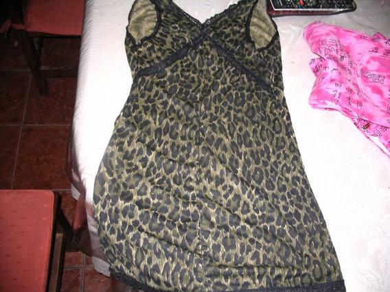 Vestido Minifalda Babydoll Puntilla Enagua Animal Print