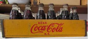 Mini Engradado Raro C/ 24 Garrafas Coca-cola - De 1954 - A26