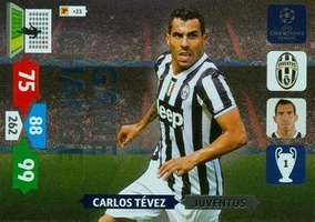 Cards Champions League 2013/14 Game Changer Tevez Juventus
