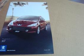 Poster Cartaz Foto Catalogo Distribuidor Peugeot 307 - 2008