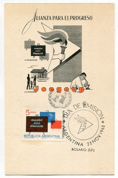 Entero Postal Alianza Para El Progreso Matasello Rosario
