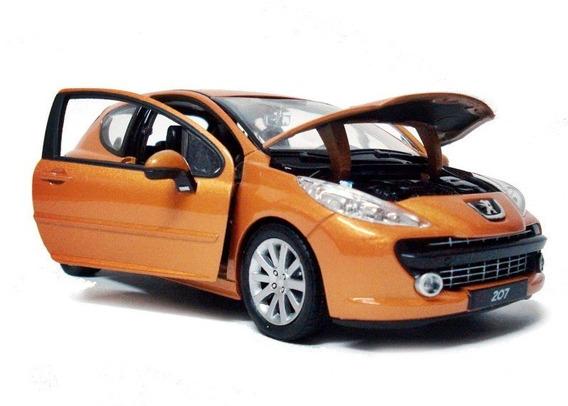 Miniatura Peugeot 207 - Welly - Escala 1:24 - Novo/lacrado!