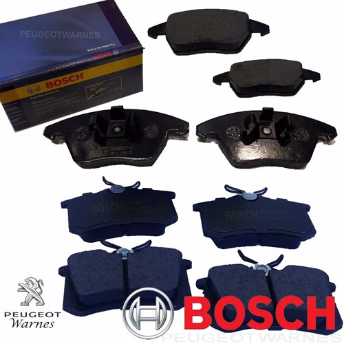 Pastillas Delanteras + Traseras Bosch Peugeot 208 Xy 1.6 Thp