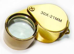 Lupa 30x 21mm Gota Inox - Dourada - Luxo - Profissional