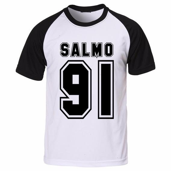 Camisa Camiseta Raglan Gospel Evangélica Cristã Salmo 91