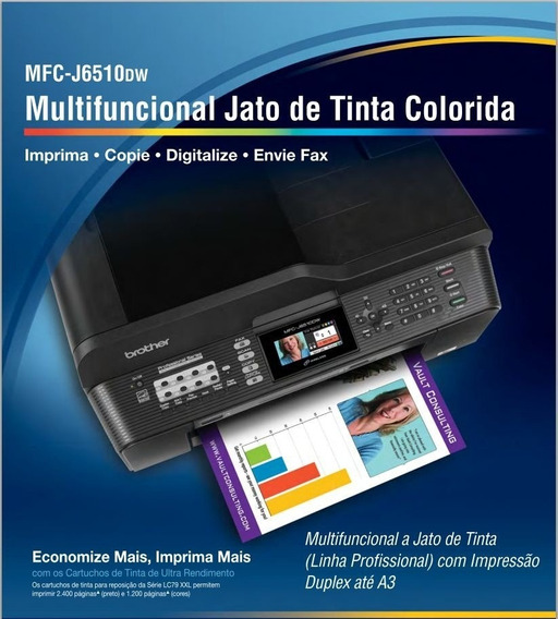 Multifuncional A3 Brother J6510 Dw (maxcombo + 400ml)tinta