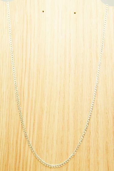 Corrente Grumet Flat Prata 925 (l6,5) 3 Mm X 60cm