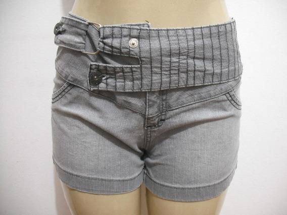 Shorts Jeans Choco Menta Tam 42 Usado Bom Estado