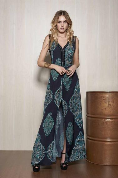 Vestido Longo Da Civil - Estilo Farm - Original