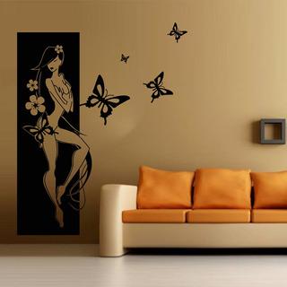 Vinilo Pared Chica Oriental Decoración Wall Stickers