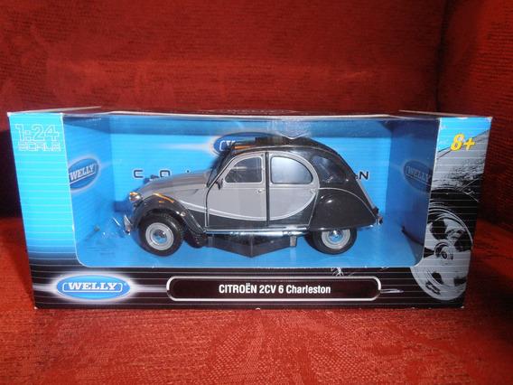 Citroen 2cv 6 Charleston 1/24 Welly- Devoto Toys