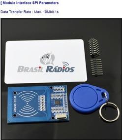 Sensor Módulo Leitor Rfid Rc522 13.56 Mhz Arduino