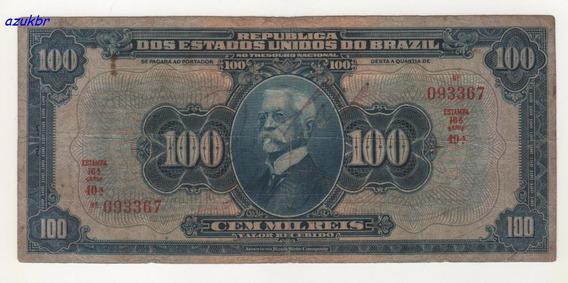 * R141a - 100000 Reis 16ª Estampa Ano 1932 R-141a - Mbc *