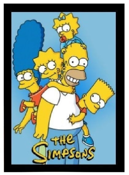 Poster Emoldurado The Simpsons - Family