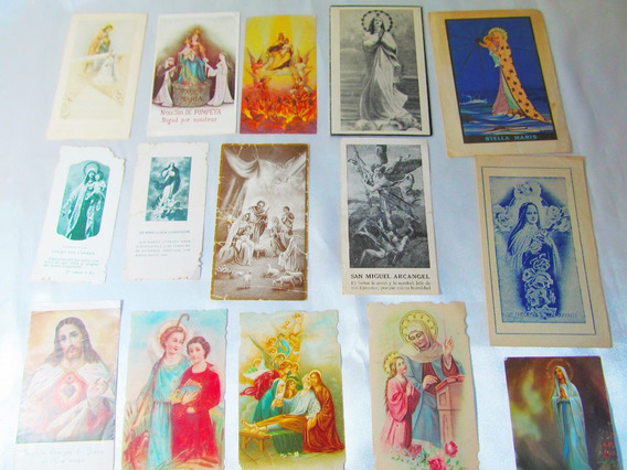 El Arcon Lote 15 Estampitas Religiosas 1930-1948 107 01