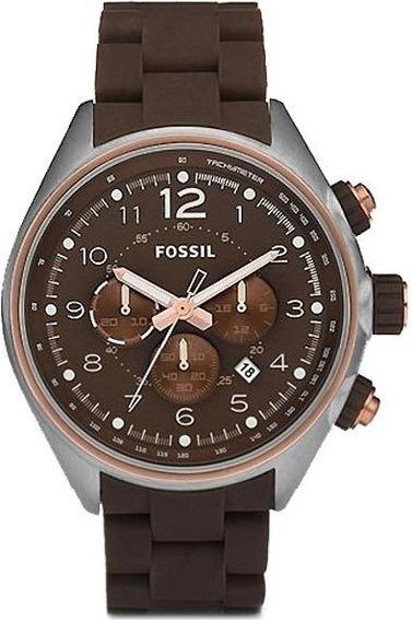 Relógio Fossil Ch2727 10atm Brown Rose Importado Ac Trocas