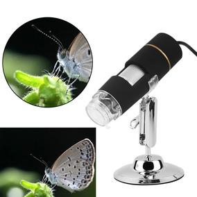 Digital Microscópio Usb 2mp X500 8led Câmera Lupa Kit Com 2