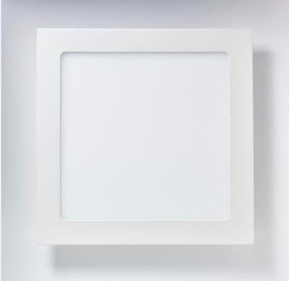 Luminaria Painel Plafon Led Quadrado Sobrepor Ultra Slim 18w
