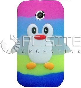 ea05d57a3b7 Funda Protector Silicona Pinguino Motorola Moto E Xt1022 - $ 155,00 ...