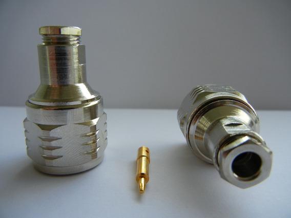 50 Conectores N Macho Rg58/ Rgc 58 Cm3 - Teflon Ptfe