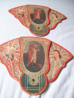 Antiguo Abanico De Cartón . Publicidad Bazar