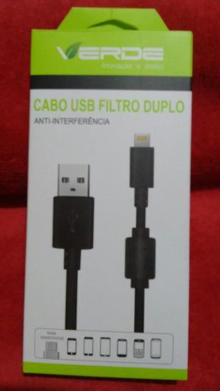 Cabo Usb Filtro Duplo, Anti-interferência E Reforçado
