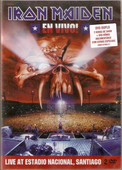 Dvd Duplo Iron Maiden - En Vivo! - Novo***