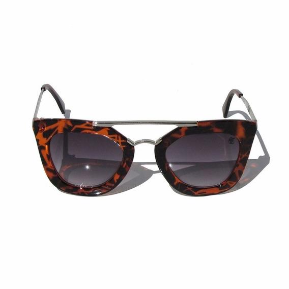 Óculos De Sol Itália Estampado Marrom - Hardcore Line