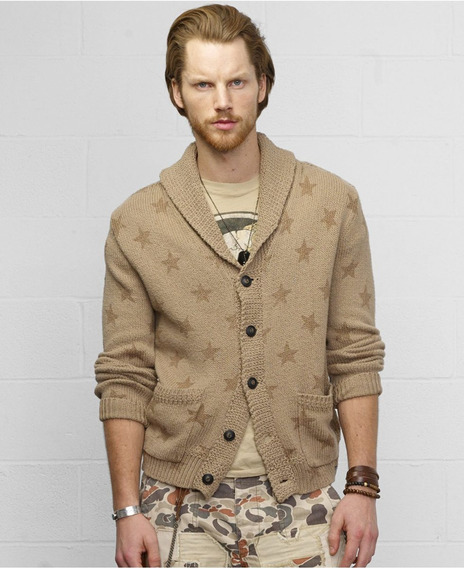 Polo Ralph Lauren Denim And Supply Starprint Shawl Cardigan