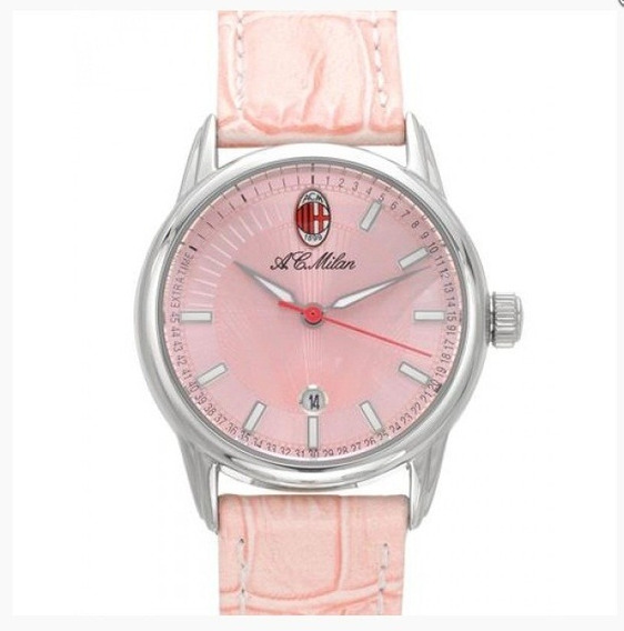Relógio Pulso Ac Milan Ac7982 Feminino Rosa Pink Com Nfe