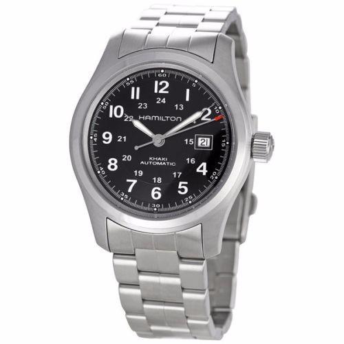 Automatico AceroNegro Hamilton Field H70515137 Reloj Khaki cARSj3L54q